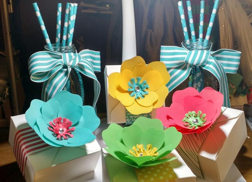 bouquet boxes birthday decor